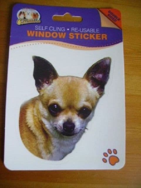 CHIHUAHUA DOUBLE SIDED WINDOW STICKER