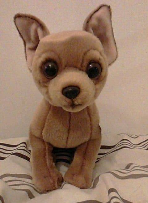 """CHIHUAHUA SOFT AND CUDDLY 12"""" TOY"""