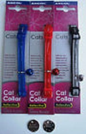 GLOSS REFLECTIVE ANCOL COLLARS mixed colours 3, 6 or 12 pack deal price from