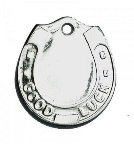 GOOD LUCK HORSE SHOE DOG TAG - HAND ENGRAVED FREE