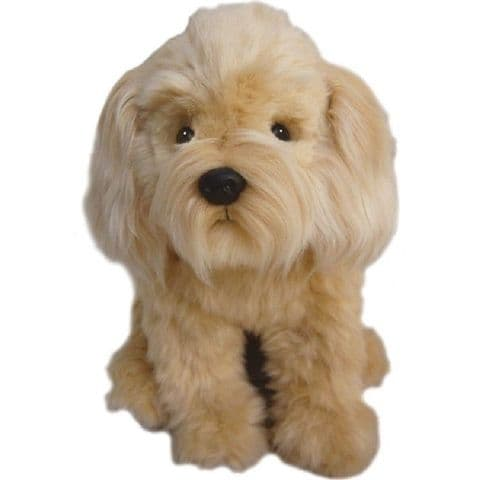 """Labradoodle Cuddly toy 12"""" cream collectable  Christmas stocking filler"""