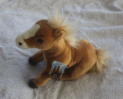 """Palomino Horse Cuddly toy 12"""" from the Sawley Fine arts collectable range"""