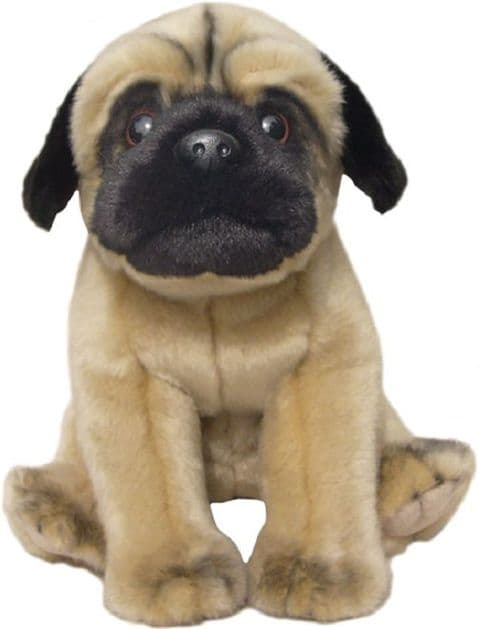 Pug toy dog , gift wrapped, not gift wrapped with or without engraved tag