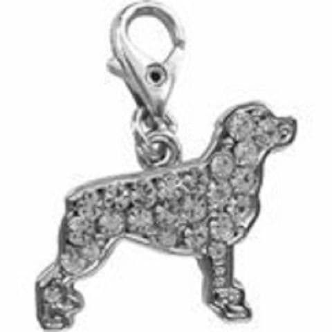 ROTWIELLER CLEAR CRYSTAL CHARM FOR BAGS PHONES JEWELLERY ETC