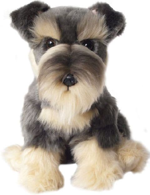 Schnauzer, gift wrapped/not gift wrapped with /without engraved tag