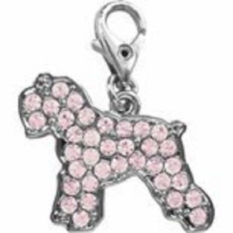 SCHNAUZER PINK CRYSTAL CHARM FOR BAGS PHONES JEWELLERY ETC
