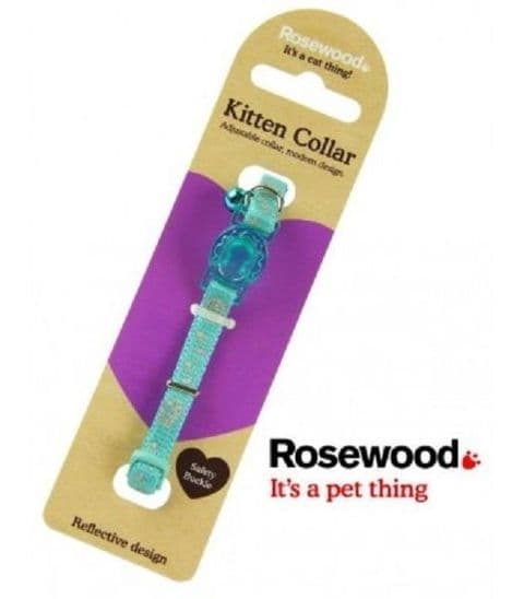 SPECIAL  OFFER OF TWO  BLUE REFLECTIVE COLLARS WITH SAFETY CLIP & BELL  WITH EIGHT TAGS