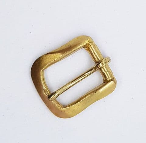 18mm  satin gold buckle