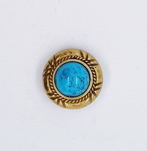 Gold & Turquoise Concho