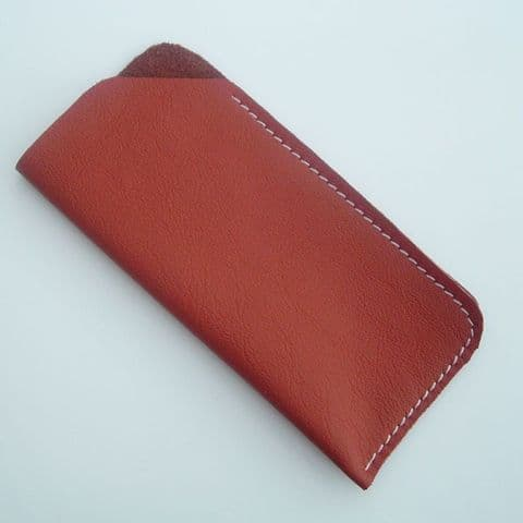 Real Leather glasses case ~~ Burnt Sienna