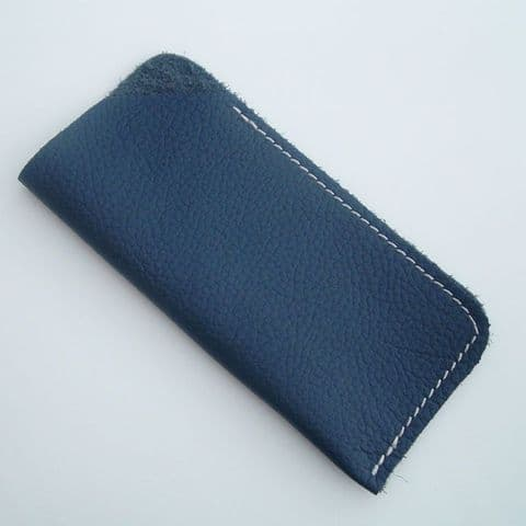 Real Leather glasses case ~~ Navy Blue