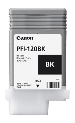 Canon TM-200 Black Ink Cartridge - Canon PFI-120bk 130ml Ink Tank