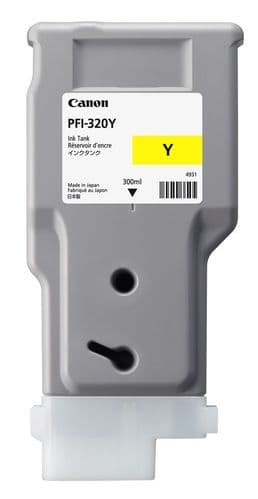 Canon TM-200 Yellow Ink Cartridge - Canon PFI-320y 300ml Ink Tank