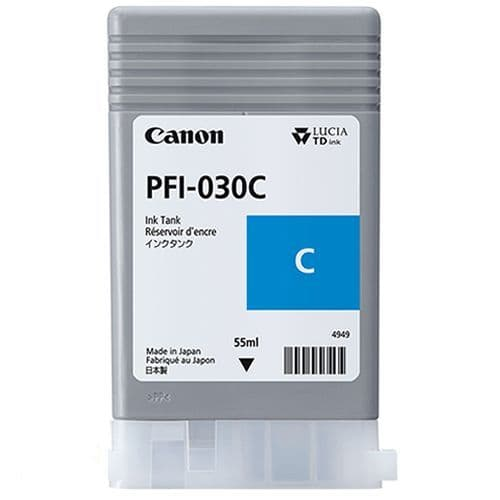 Canon PFI-030C Cyan Ink Cartridge 55ml