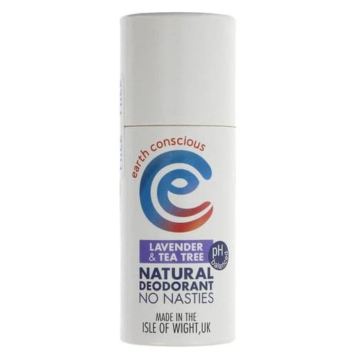 Earth Conscious Natural Deodorant - Lavender and Tea Tree - 60g