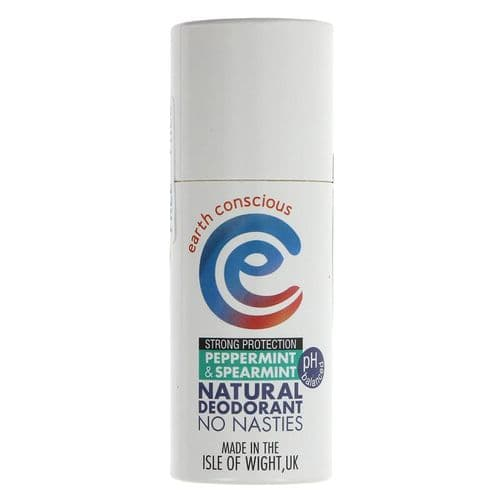 Earth Conscious Natural Deodorant - Spearmint and Peppermint - 60g