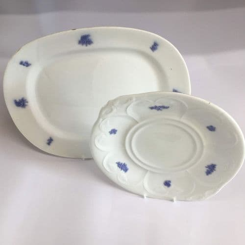 Adderley | Art Deco | Bone China  Sandwich Plate and Cake Plate | Lavender | 1930s