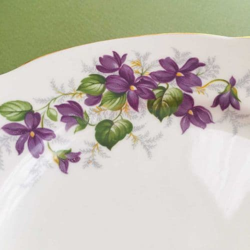 Duchess China - Violets - Cake Plate  and Tea Plates x 5 - 1960s