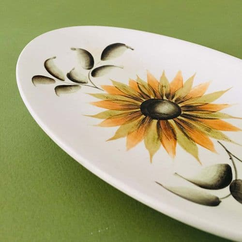 Radford - Hand-painted - Floral  Dish Plate - 50s 60s