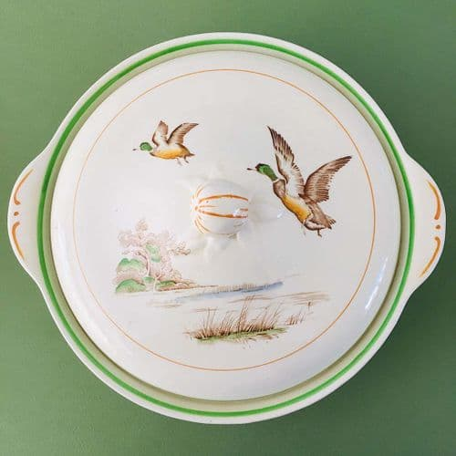 Ridgways Pottery -  Art Deco -  Oakmere - Mallard Ducks Tureen
