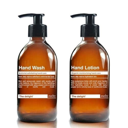 The Delight - French Vanilla & Hazelnut Hand Wash and Hand Lotion Twin pack