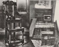 17th Century Medieval Babys Chair Four Poster Bed 2x Postcard s