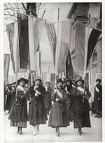 1917 Suffragette Movement at White House Picket Demonstration Postcard