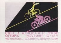 1930 Cycle & Motor Show London Exhibition Advertising Postcard