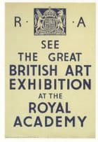 1934 Great British Art Exhibition London Poster Advertising Postcard