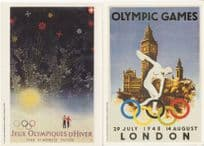 1948 Olympic Games London 2x Poster Postcard s