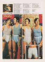 1970s Longjohns Mens Pants Fashion Underwear Advertising Postcard