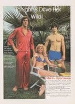 1970s Lounge Suit Malibu Sports Driver Her Wild Advertising Postcard
