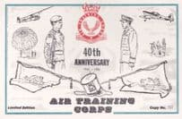 40th Anniversary Of Air Training Corps Flag Uniform Military Postcard