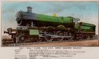 4901 Hall Class Type 4-6-0 GWR Real Photo Train Old Postcard