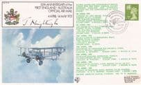 50th Anniversary Of The First England Australia Post Office Air Mail Hand Signed FDC