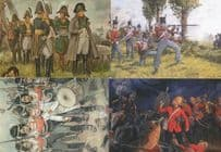 51st Light Infantry Battle Of Waterloo 4x Painting Postcard s