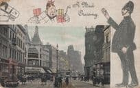 A Bad Crossing Liverpool 1906 Old Policeman Postcard
