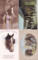 A Bit Of Old England Birthday Actress 4x Antique Horse Postcard s