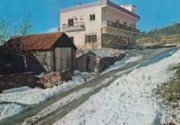 A Lareira Restaurant Sabugueiro in Winter Serra Da Estrela Portugal Map Postcard
