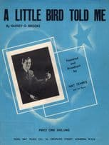 A Little Bird Told Me Nat Temple Vintage 1940s Sheet Music