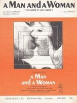 A Man And A Woman 1970s Sheet Music
