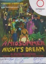 A Midsummer Nights Dream Shakespeare Bolton Theatre 10x Hand Signed Flyer
