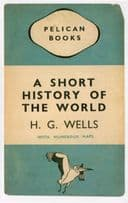 A Short History Of The World HG Wells 1937 Book Postcard