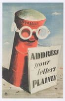 Address Your Letters Plainly Royal Mail WW2 Pillar Box Military Postcard