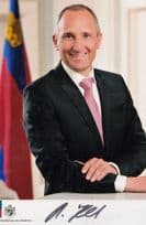 Adrian Hasler Prime Minister PM Liechtenstein Hand Signed Photo