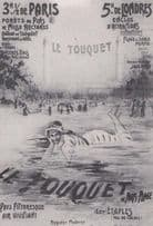Advertising Poster Vintage Le Touquet Paris France French Swimming Postcard
