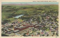 Aerial View of Martinsburg West Virginia WV Interwoven Stocking Company Postcard