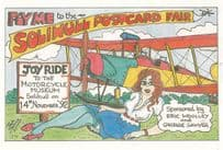 Air Hostess Fly Me To Solihull Motorcycle Show Museum West Midlands Postcard