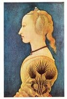 Alesso Baldovinetti Portrait Of A Lady In Yellow Art Gallery Painting Postcard