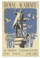 Alfred Thomson London Statue WW2 1940 Painting Exhibition Postcard